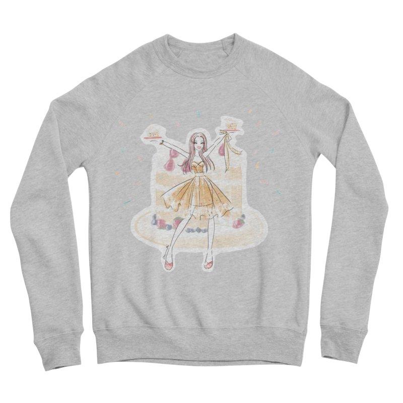 Funfetti Cake Girl Men's Sponge Fleece Sweatshirt by Deanna Kei's Artist Shop