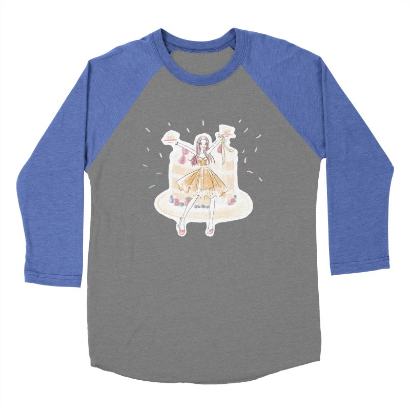 Funfetti Cake Girl Men's Baseball Triblend Longsleeve T-Shirt by Deanna Kei's Artist Shop