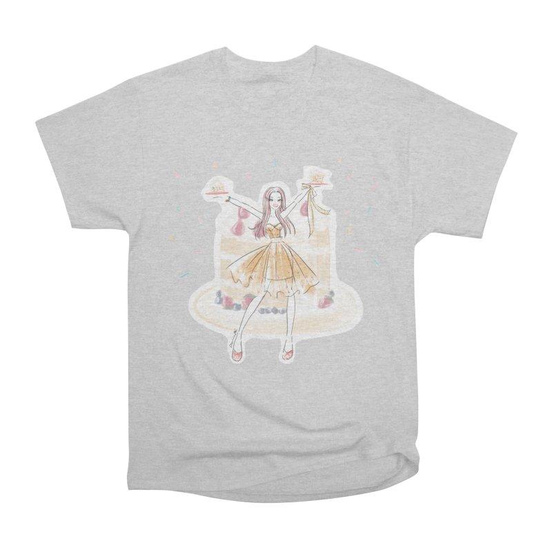 Funfetti Cake Girl Women's Heavyweight Unisex T-Shirt by Deanna Kei's Artist Shop