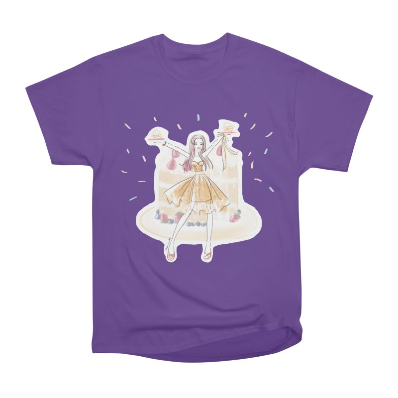 Funfetti Cake Girl Men's Heavyweight T-Shirt by Deanna Kei's Artist Shop