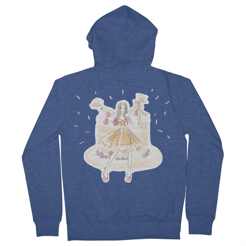 Funfetti Cake Girl Women's French Terry Zip-Up Hoody by Deanna Kei's Artist Shop