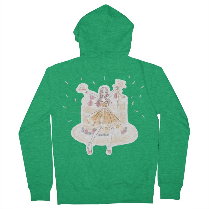 Funfetti Cake Girl Men's French Terry Zip-Up Hoody by Deanna Kei's Artist Shop