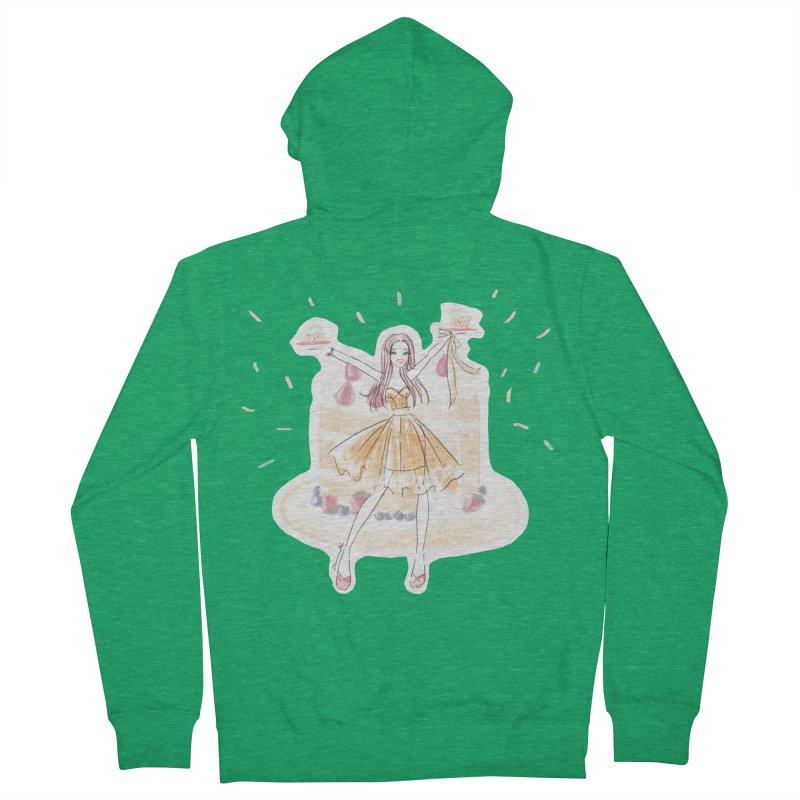 Funfetti Cake Girl Men's Zip-Up Hoody by Deanna Kei's Artist Shop