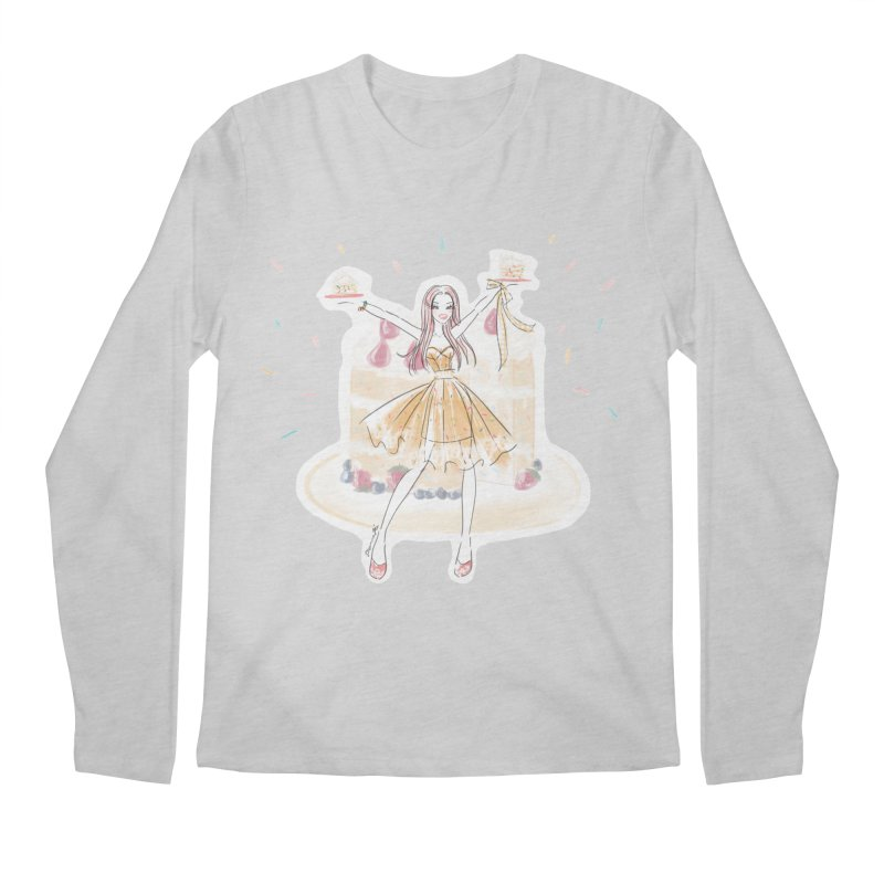 Funfetti Cake Girl Men's Regular Longsleeve T-Shirt by Deanna Kei's Artist Shop