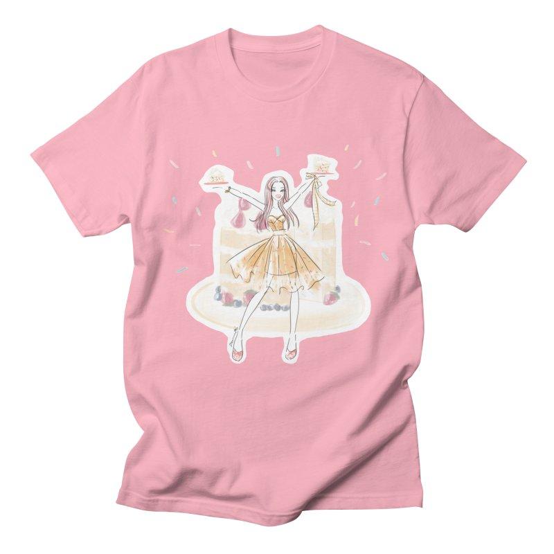 Funfetti Cake Girl Men's T-Shirt by Deanna Kei's Artist Shop
