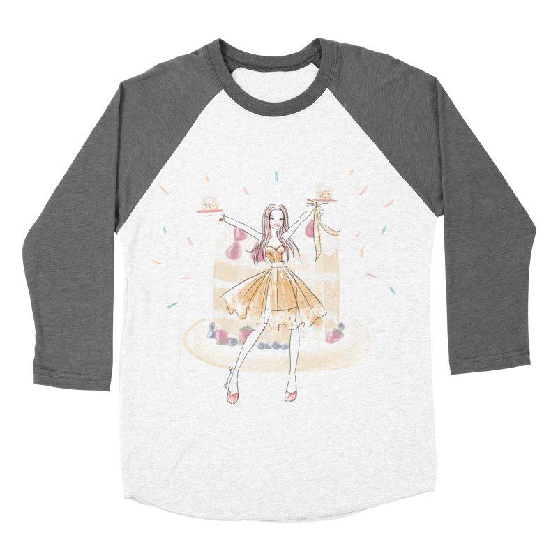 Funfetti Cake Girl Women's Baseball Triblend Longsleeve T-Shirt by Deanna Kei's Artist Shop