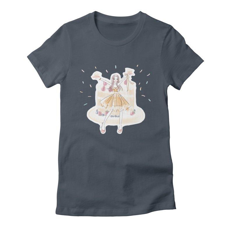 Funfetti Cake Girl Women's T-Shirt by Deanna Kei's Artist Shop