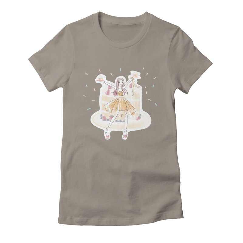 Funfetti Cake Girl Women's Fitted T-Shirt by Deanna Kei's Artist Shop