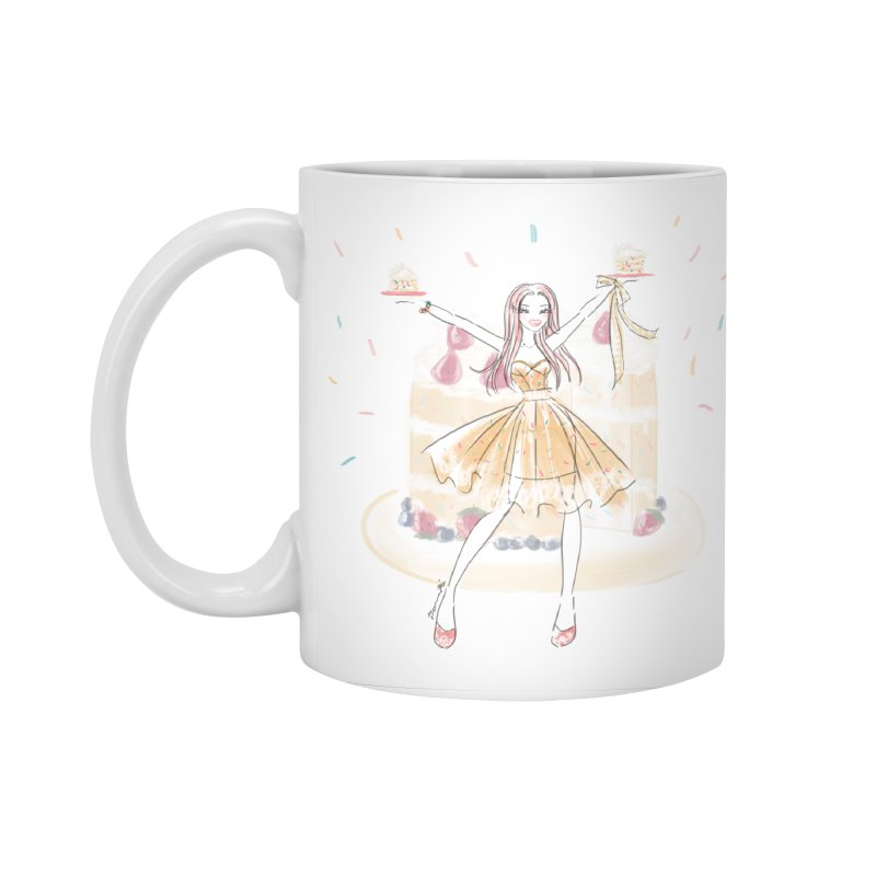 Funfetti Cake Girl Accessories Standard Mug by Deanna Kei's Artist Shop