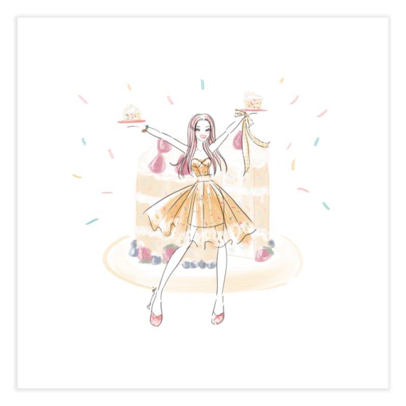 Funfetti Cake Girl Home Fine Art Print by Deanna Kei's Artist Shop