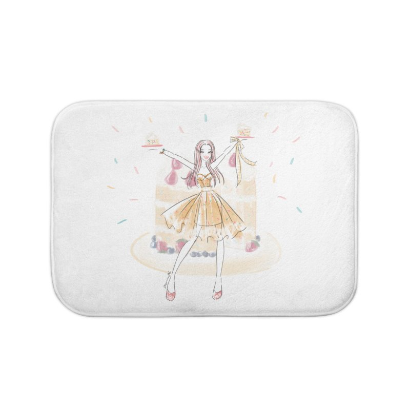 Funfetti Cake Girl Home Bath Mat by Deanna Kei's Artist Shop