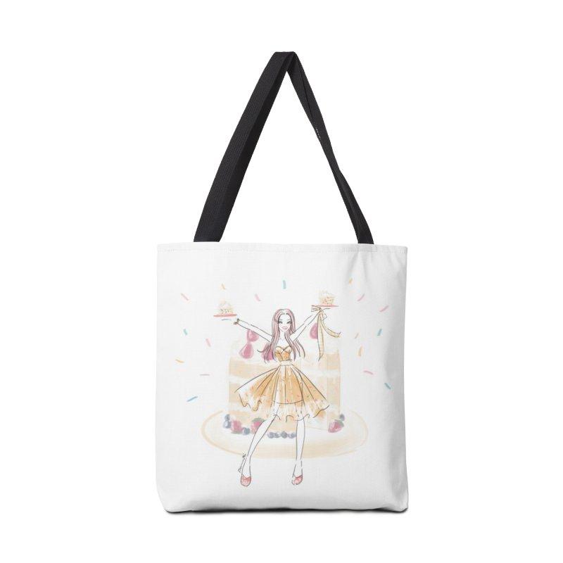 Funfetti Cake Girl in Tote Bag by Deanna Kei's Artist Shop