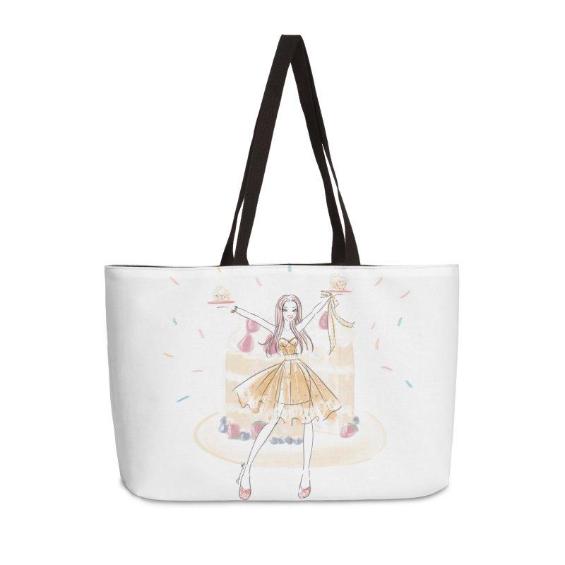 Funfetti Cake Girl in Weekender Bag by Deanna Kei's Artist Shop