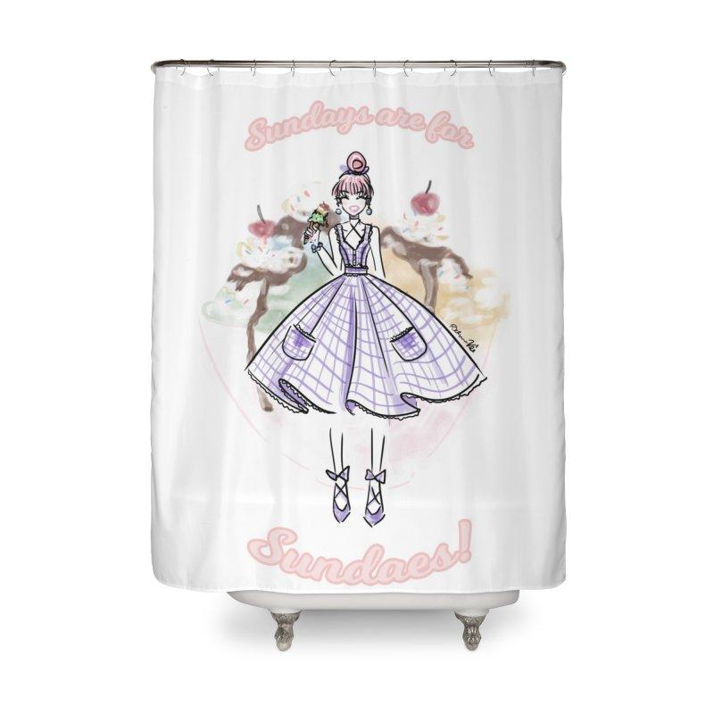 Sundays are for Sundaes Home Shower Curtain by Deanna Kei's Artist Shop