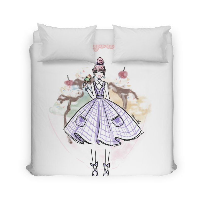 Sundays are for Sundaes Home Duvet by Deanna Kei's Artist Shop