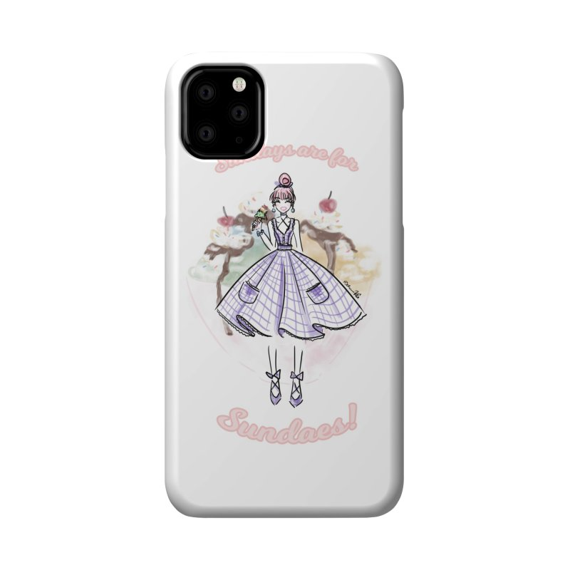 Sundays are for Sundaes Accessories Phone Case by Deanna Kei's Artist Shop