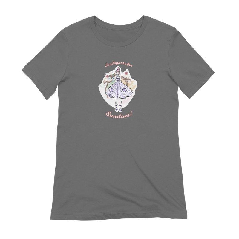 Sundays are for Sundaes Women's T-Shirt by Deanna Kei's Artist Shop