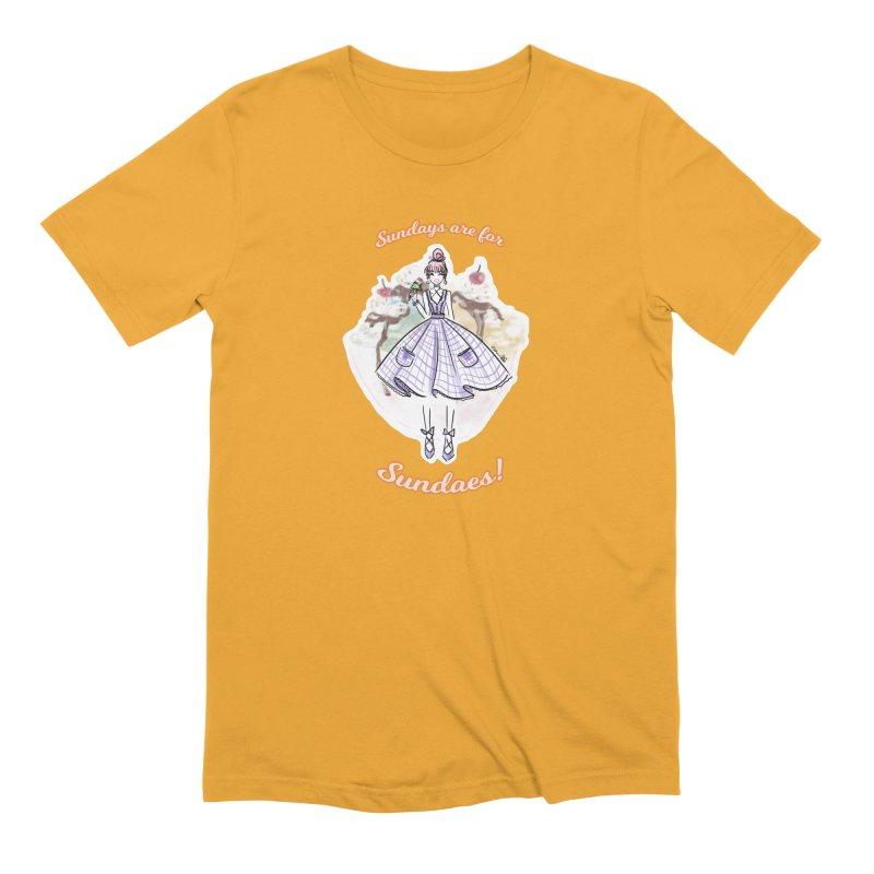 Sundays are for Sundaes Men's Extra Soft T-Shirt by Deanna Kei's Artist Shop