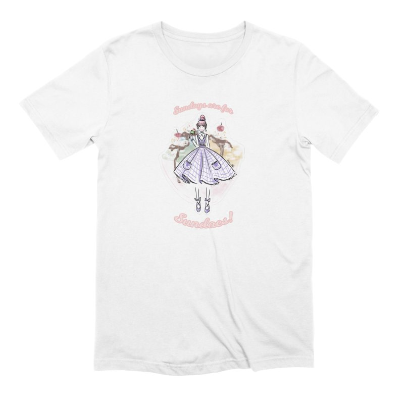 Sundays are for Sundaes Men's T-Shirt by Deanna Kei's Artist Shop