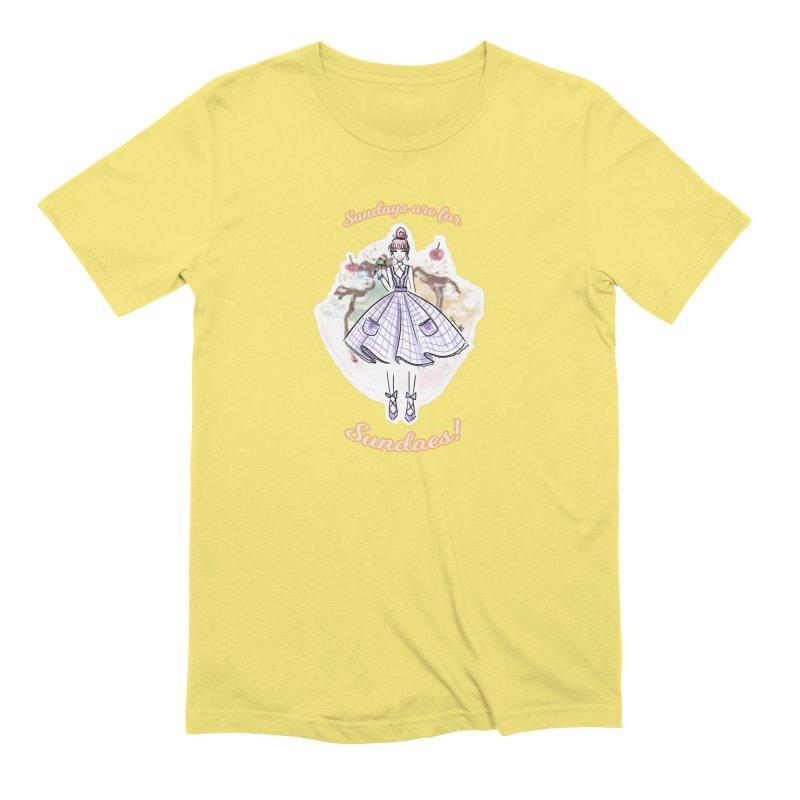 Sundays are for Sundaes Men's T-Shirt by Deanna Kei's Artist Shop