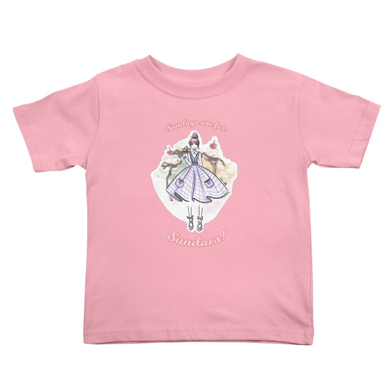 Sundays are for Sundaes Kids Toddler T-Shirt by Deanna Kei's Artist Shop