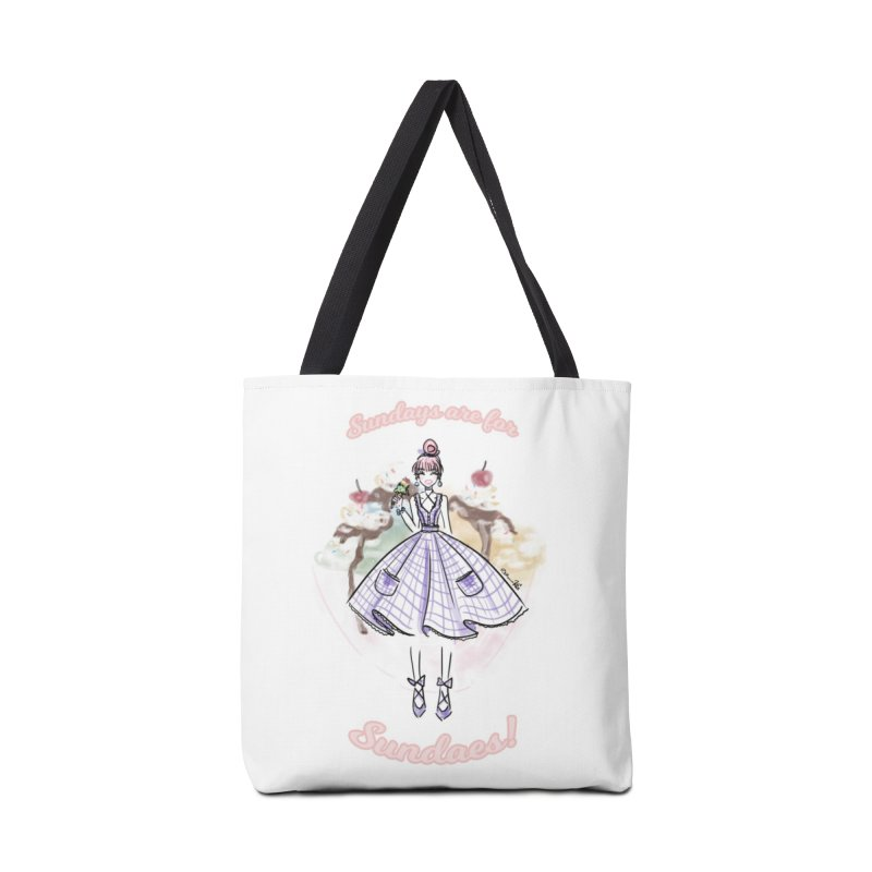 Sundays are for Sundaes Accessories Tote Bag Bag by Deanna Kei's Artist Shop