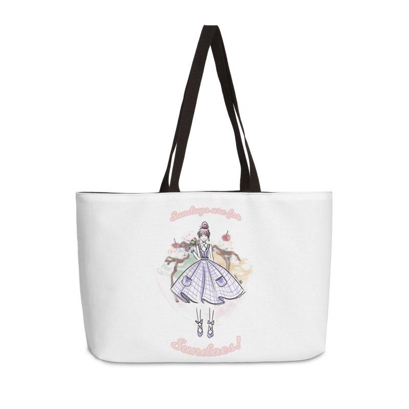 Sundays are for Sundaes in Weekender Bag by Deanna Kei's Artist Shop