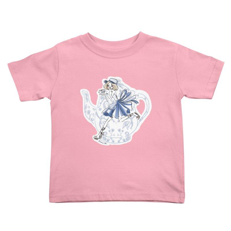Tea Time Kids Toddler T-Shirt by Deanna Kei's Artist Shop
