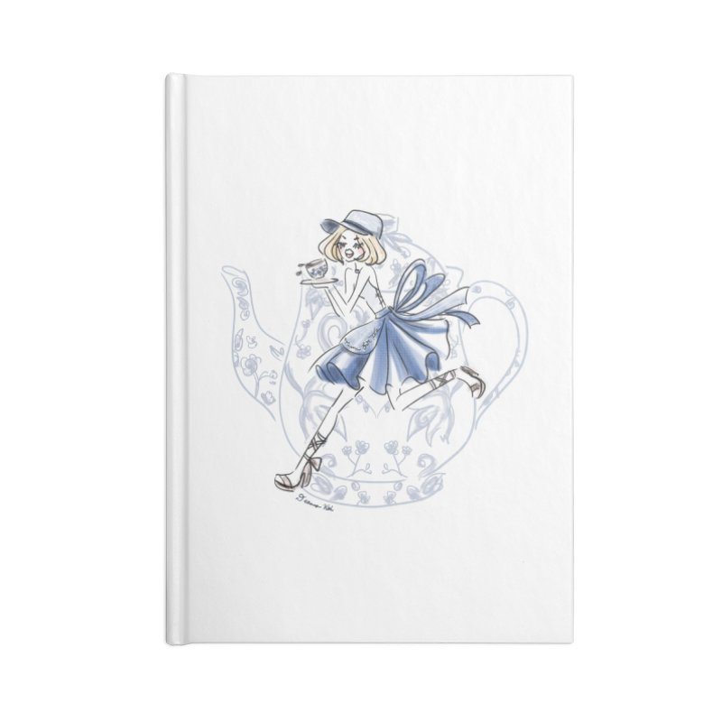 Tea Time Accessories Lined Journal Notebook by Deanna Kei's Artist Shop