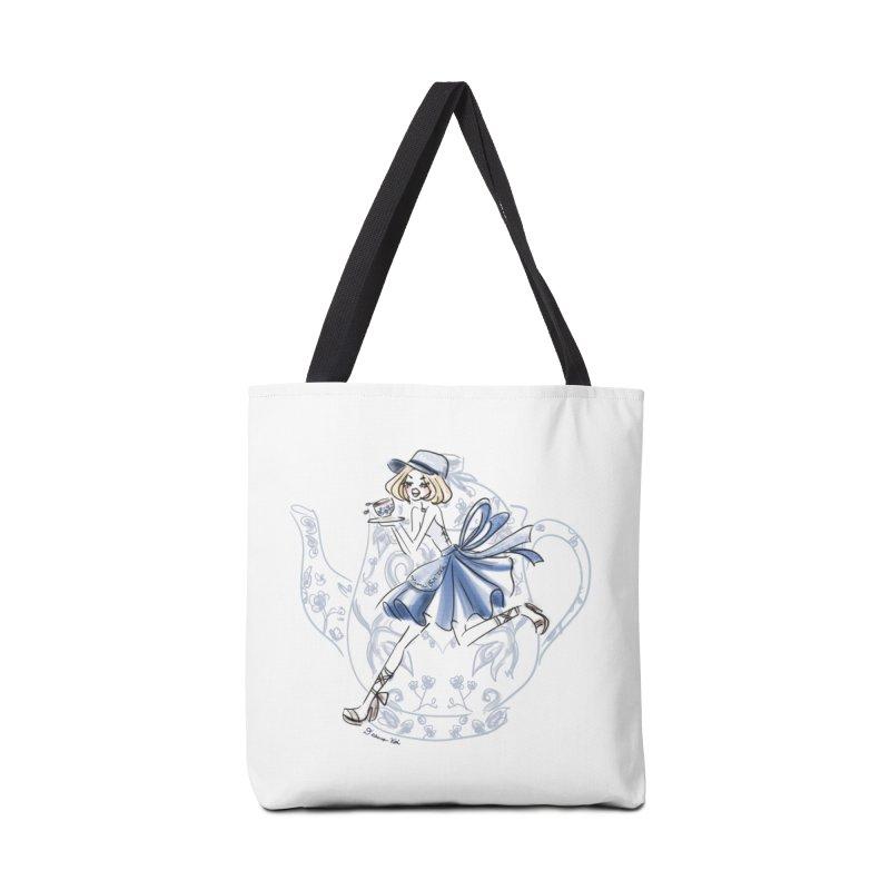 Tea Time Accessories Tote Bag Bag by Deanna Kei's Artist Shop