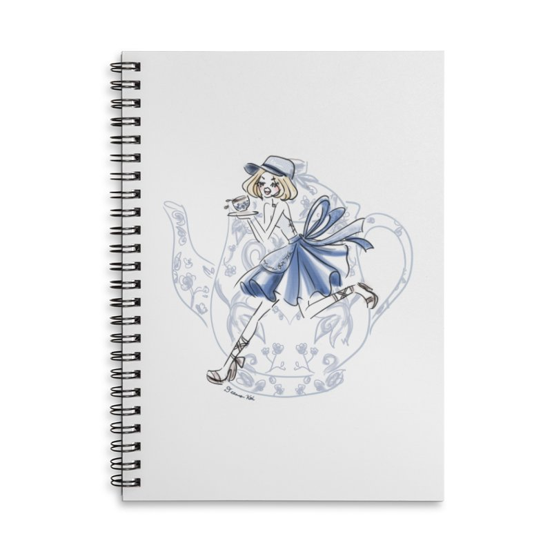 Tea Time Accessories Notebook by Deanna Kei's Artist Shop