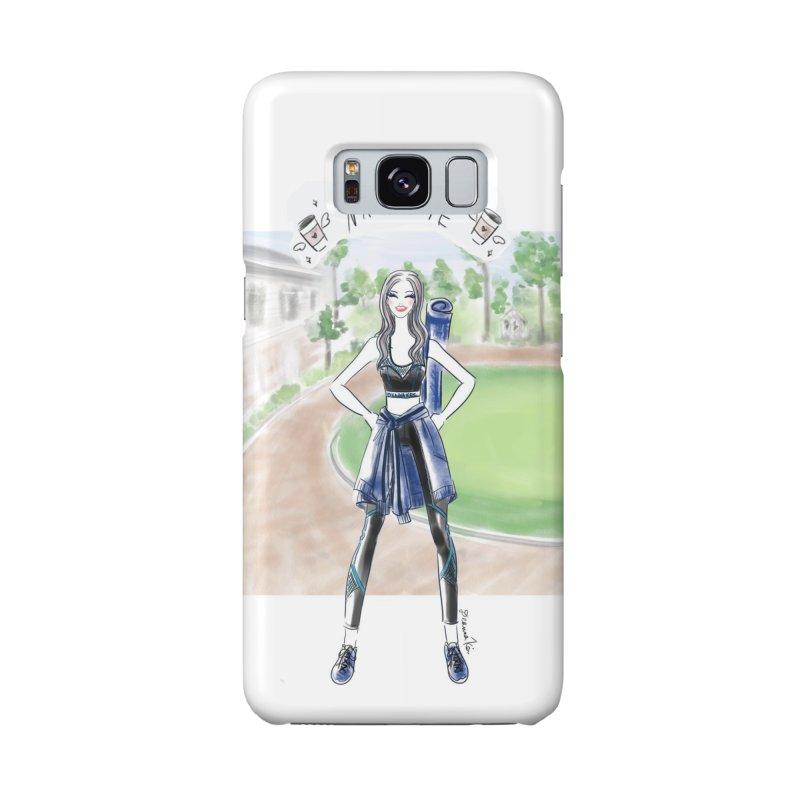 namaste yoga girl Accessories Phone Case by Deanna Kei's Artist Shop