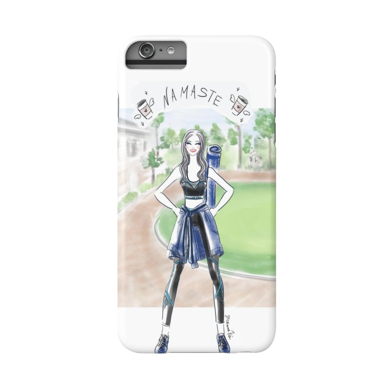 namaste yoga girl Accessories Phone Case by Deanna Kei's Artist Shop