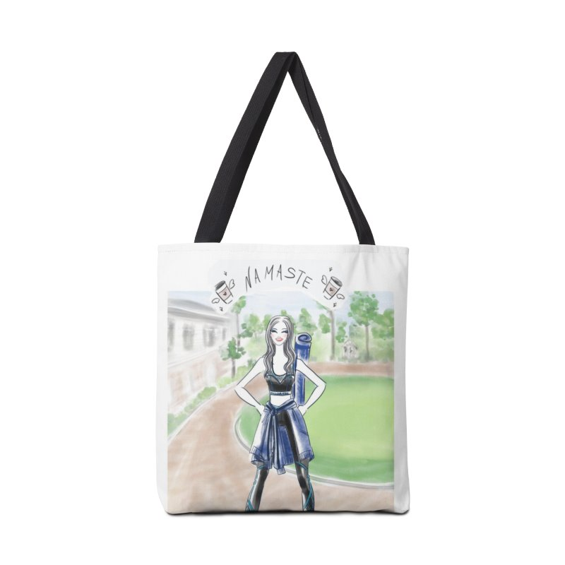 namaste yoga girl Accessories Tote Bag Bag by Deanna Kei's Artist Shop