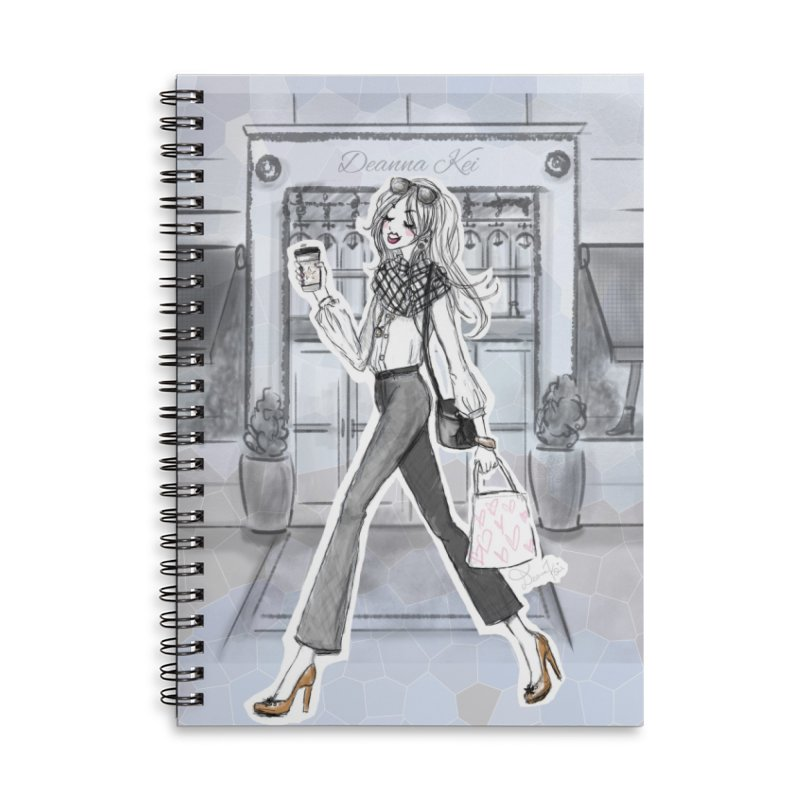 NYC Style Accessories Lined Spiral Notebook by Deanna Kei's Artist Shop