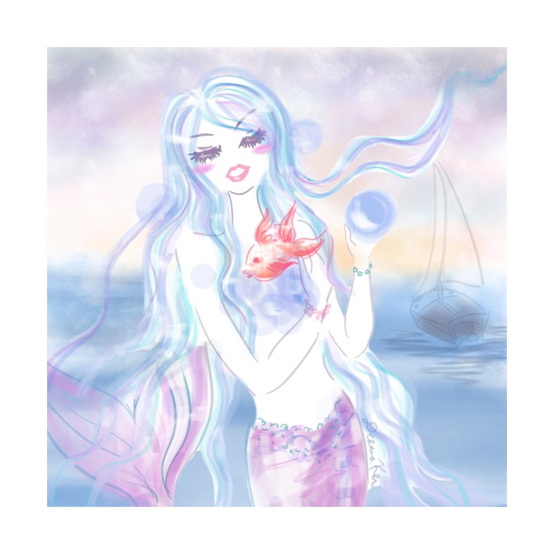 Pastel Mermaid Accessories Sticker by Deanna Kei's Artist Shop