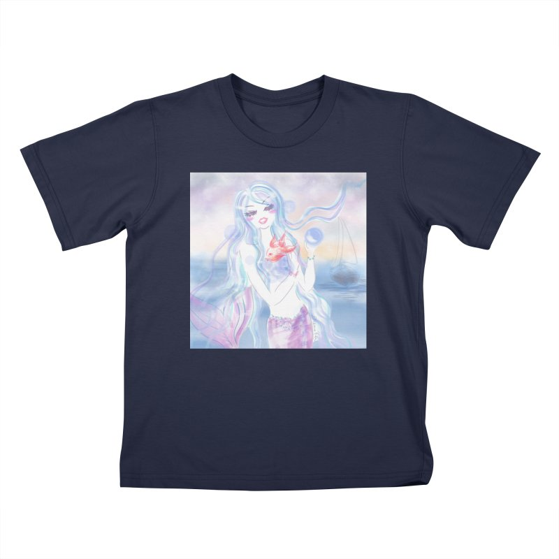 Pastel Mermaid Kids T-Shirt by Deanna Kei's Artist Shop