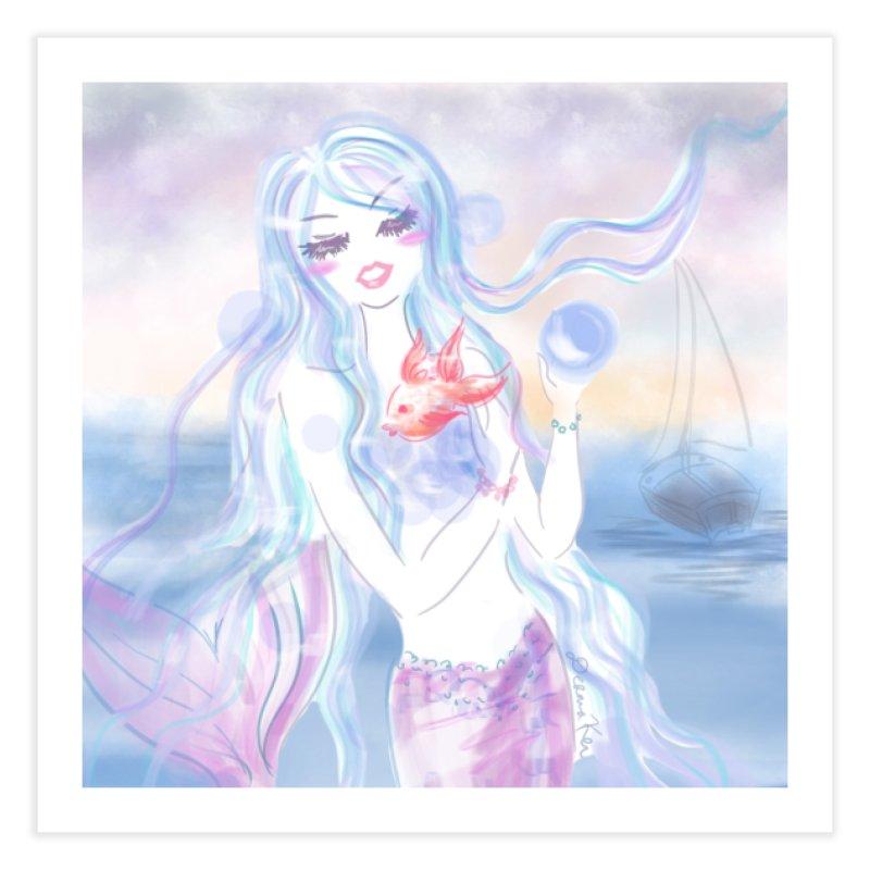 Pastel Mermaid Home Fine Art Print by Deanna Kei's Artist Shop