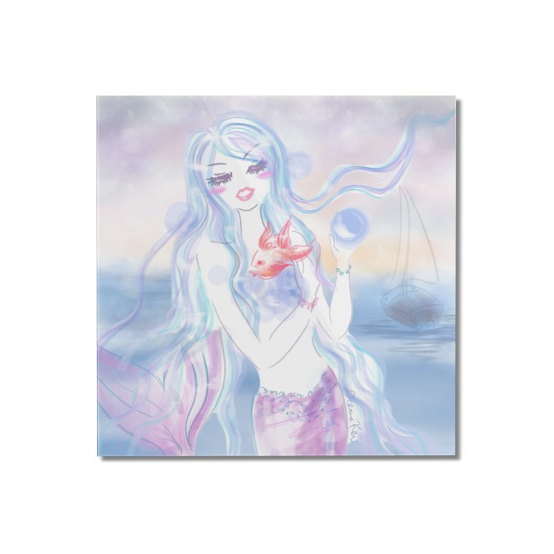 Pastel Mermaid Home Mounted Acrylic Print by Deanna Kei's Artist Shop
