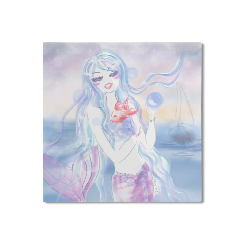 Pastel Mermaid Home Mounted Aluminum Print by Deanna Kei's Artist Shop