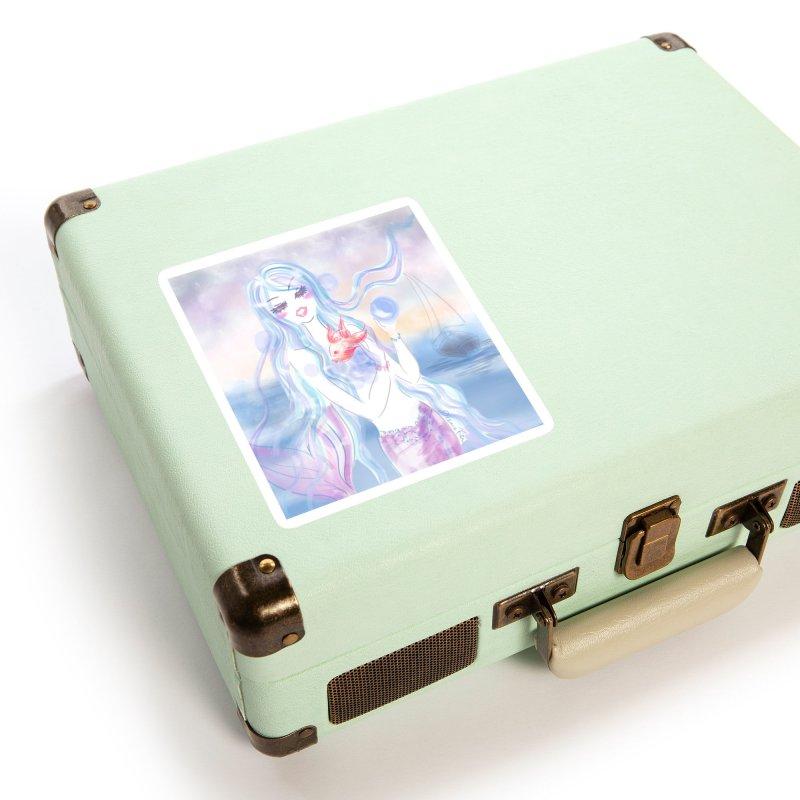 Pastel Mermaid Accessories Sticker by Deanna Kei's Artist Shop