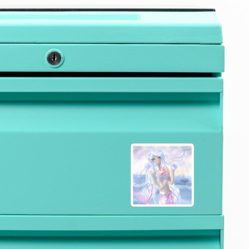 Pastel Mermaid Accessories Magnet by Deanna Kei's Artist Shop