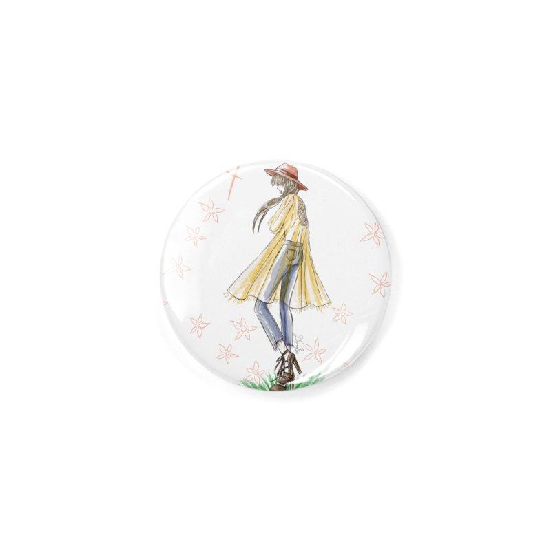 Festival Girl Accessories Button by Deanna Kei's Artist Shop