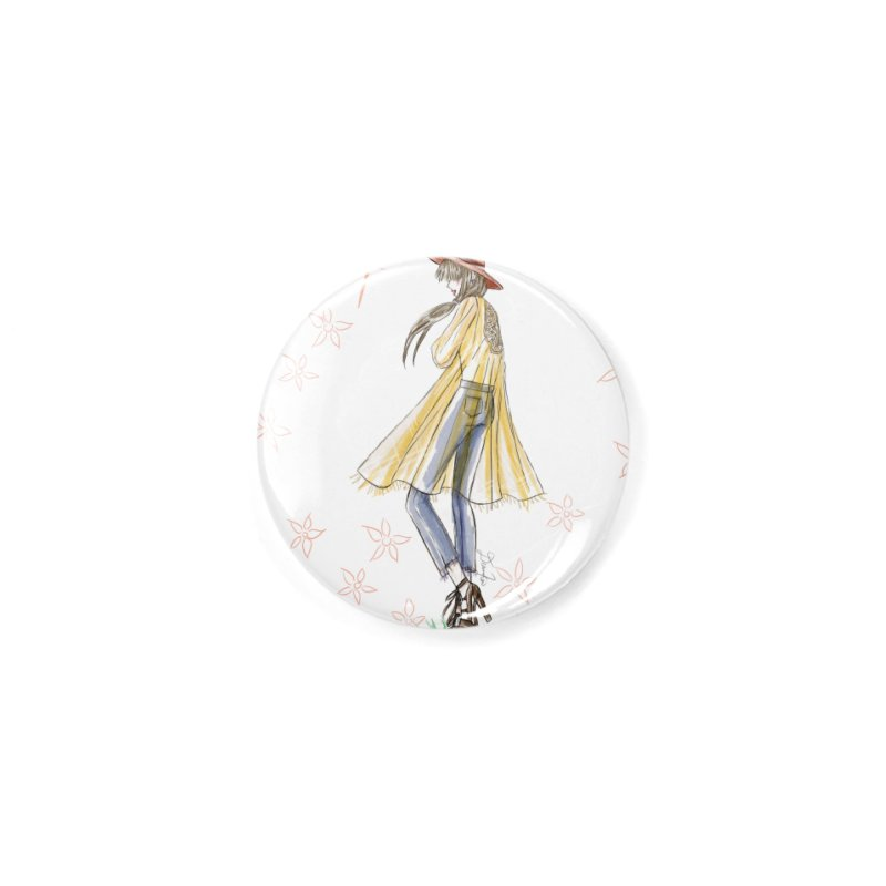 Festival Girl Accessories Button by Deanna Kei's Artist Shop