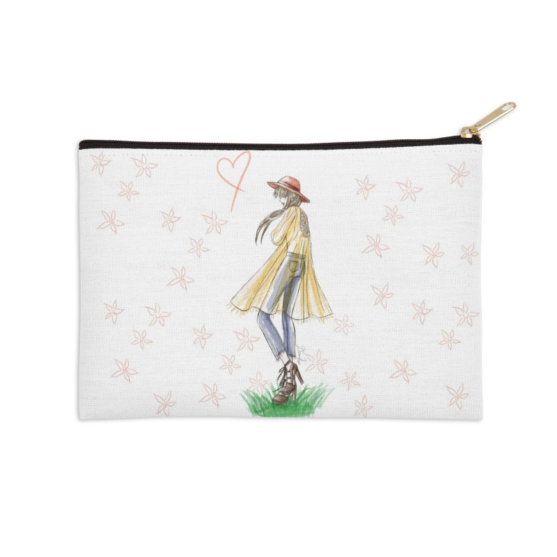 Festival Girl Accessories Zip Pouch by Deanna Kei's Artist Shop