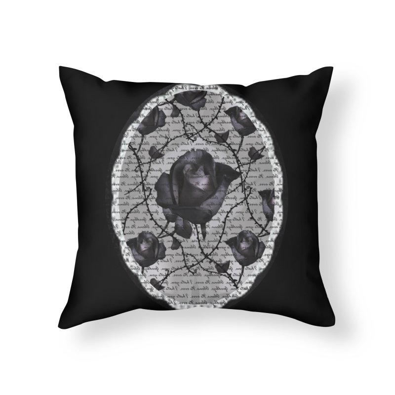 Bitter Rose - Version 2 Home Throw Pillow by Deanna Kei's Artist Shop