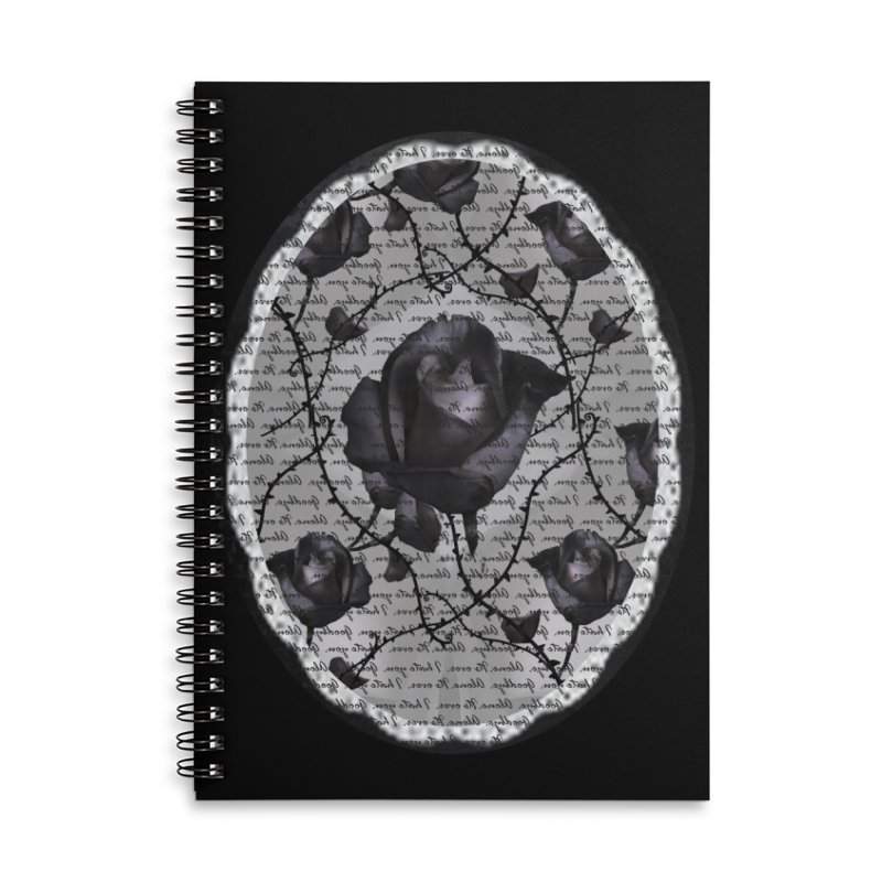 Bitter Rose - Version 2 Accessories Lined Spiral Notebook by Deanna Kei's Artist Shop