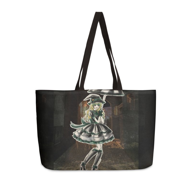 Green Slythern Halloween Witch Accessories Weekender Bag Bag by Deanna Kei's Artist Shop