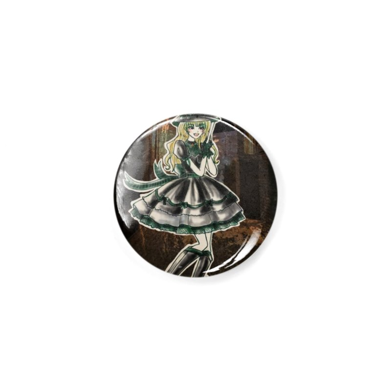 Green Slythern Halloween Witch Accessories Button by Deanna Kei's Artist Shop