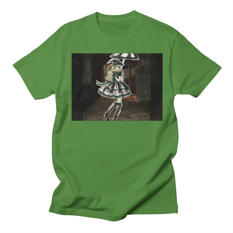 Green Slythern Halloween Witch Men's Regular T-Shirt by Deanna Kei's Artist Shop
